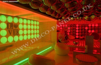 led lights love panel