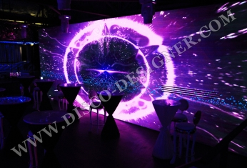 DJ Booth video display