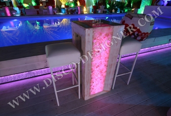 led marble table disco