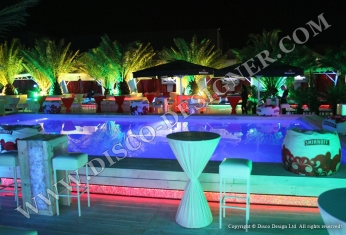 nightclub led swimming pool