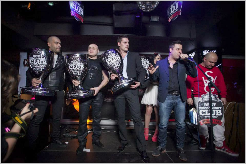 best club awards bulgaria 2012 - the disco team