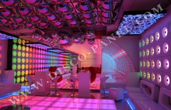 Nightclub atmosphere Frankfurt Germany
