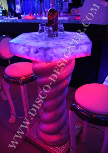 spiral led table club