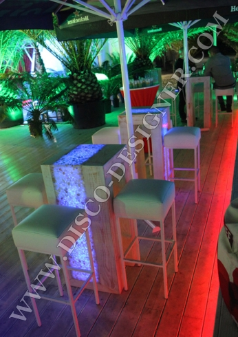 disco led table marble